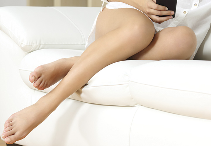 Woman's legs after leg vein treatment