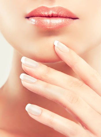 mouth and hand after age spot removal therapy